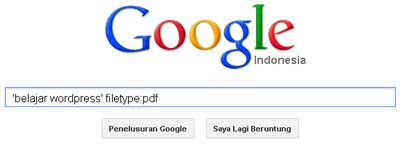 Tips Download Ebook PDF Dengan Google
