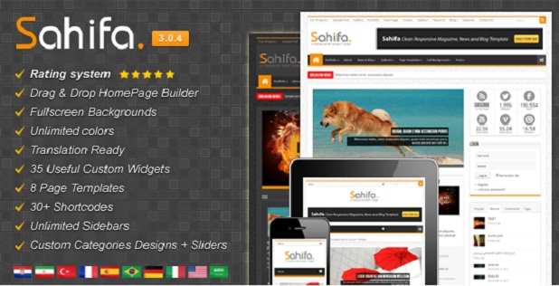 Download Template Sahifa WordPress