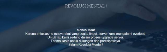 Website Revolusi Mental Habiskan Dana 140 M